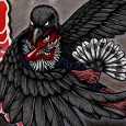 """Tengu ( """"heavenly dog"""") are a type of legendary creature found in Japanese folk religion and are also considered a type of Shinto god (kami) or yokai (supernatural beings). Although they take their name from a dog-like Chinese demon (Tiangou), the tengu were originally thought to take the forms of […]"""